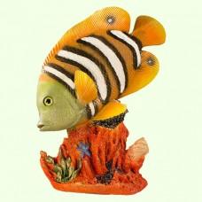 Садовая фигура Рыба бабочка на коралле