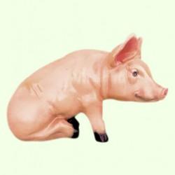 Садовая фигура Свинья сидячая