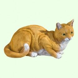 Садовая фигурка Кошка рыжая