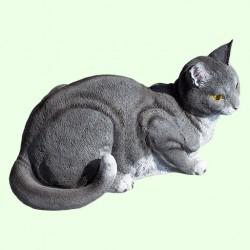Садовая фигурка Кошка серая