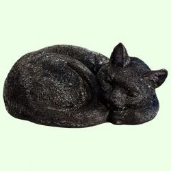 Урна для праха Спящий кот калачиком черный