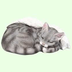 Урна для праха Спящий кот калачиком с крыльями ангела