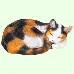 Урна для праха Спящий кот калачиком трехмастный