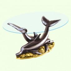 Стеклянный столик Дельфины