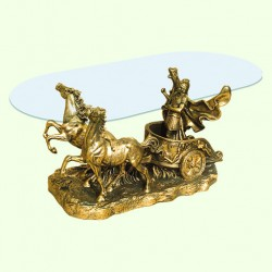 Стеклянный столик Колесница