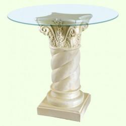 Стеклянный столик Колонна витая