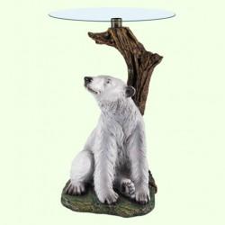 Стеклянный столик Медведь (А)