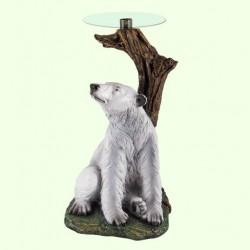 Стеклянный столик Медведь (Б)