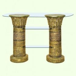 Стеклянный столик Полка египетская