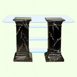 Стеклянный столик Полка монолит