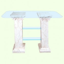 Стеклянный столик Полка римская