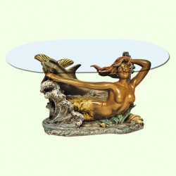 Стеклянный столик Русалка