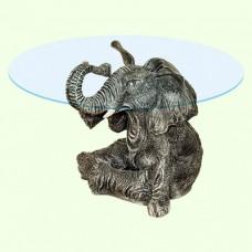 Стеклянный столик Слон