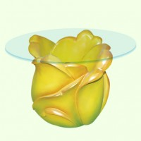 Стеклянный столик Тюльпан